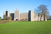 The curtain wall and ramparts of Framlingham castle, Suffolk, England