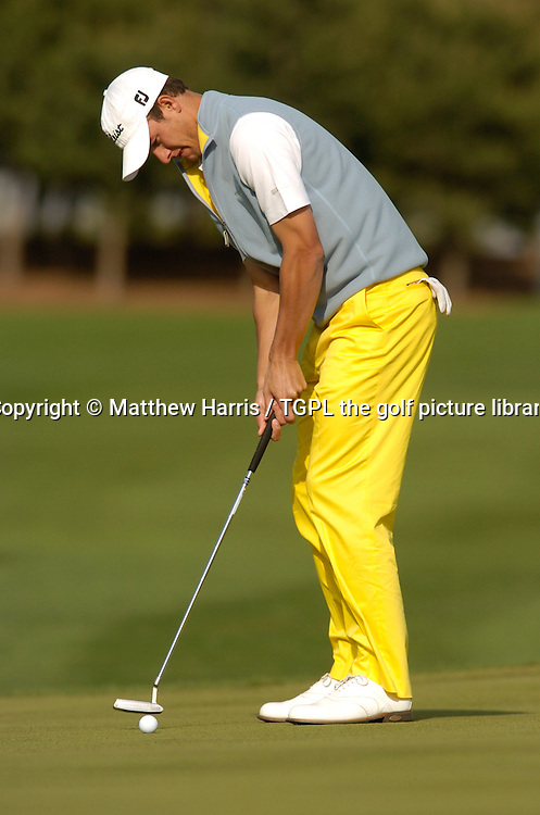 Adam SCOTT (AUS) putting sequence with start putter during Wednesday practice Johnnie Walker Asian Classic 2005,Pine Valley Resort & Country Club,Beijing,China