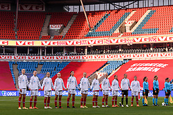 OSLO, NORWAY - Tuesday, September 22, 2020: Norway players line-up before the UEFA Women's Euro 2022 England Qualifying Round Group C match between Norway Women and Wales Women at the Ullevaal Stadion. Norway won 1-0. (Pic by Vegard Wivestad Grøtt/Propaganda)