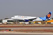 Israel, Ben-Gurion international Airport Israir Airlines Airbus A320-232