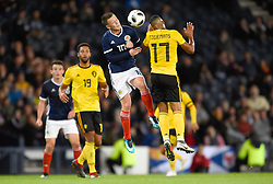 Scotland's Callum McGregor (left) and Belgium's Youri Tielemans battle for the ball during the International Friendly at Hampden Park, Glasgow.
