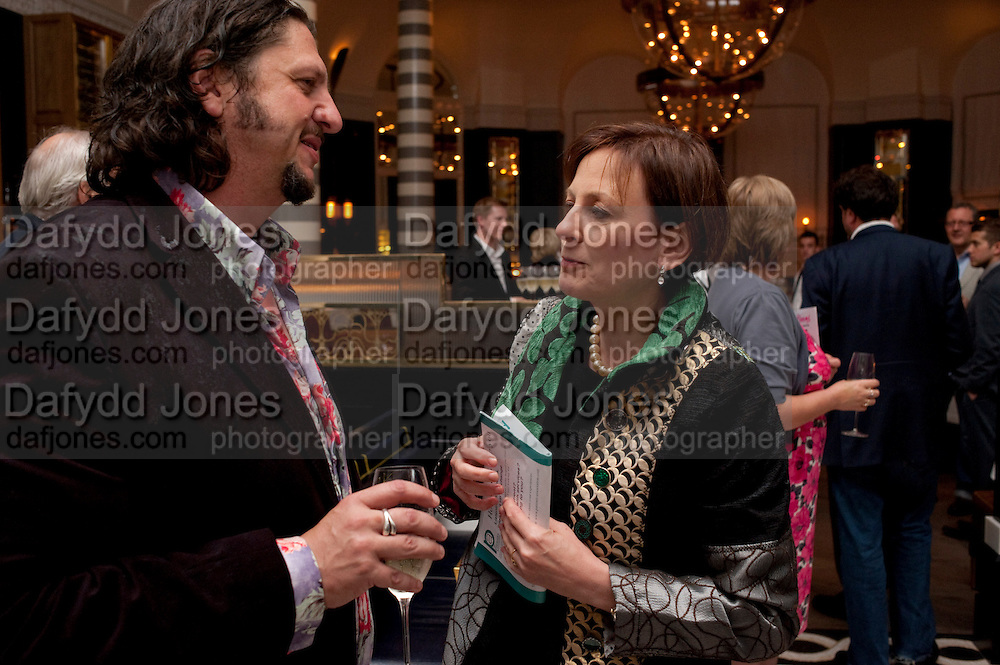JAY RAYNER; LINDSAY NICOLSON, Massimo's restaurant at the Corinthia Hotel, Whitehall  host the after party  for 'Claire Rayner's benefit show' 5 June 2011. <br /> <br />  , -DO NOT ARCHIVE-© Copyright Photograph by Dafydd Jones. 248 Clapham Rd. London SW9 0PZ. Tel 0207 820 0771. www.dafjones.com.