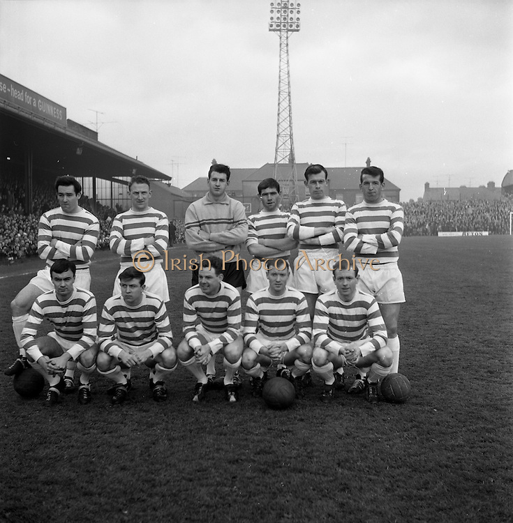 26/04/1964<br /> 04/26/1964<br /> 26 April 1964<br /> F.A.I. Cup Final: Shamrock Rovers v Cork Celtic at Dalymount Park, Dublin. The game ended 1-1 and went to a replay that Rovers won. The Shamrock Rovers Team.