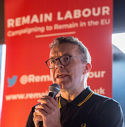 © Licensed to London News Pictures. 21/05/2019. Bristol, UK. TOM WATSON, Deputy Leader of the Labour Party, at a Remain Labour rally at the The Love Inn on Stokes Croft organised by the Remain Labour group as part of campaigning in the elections for the European Parliament. Speakers included Paul Mason and MEP south west England candidates Clare Moody and Andrew Adonis. Photo credit: Simon Chapman/LNP