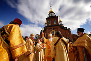 Kevin Bartram   Staff<br /> Metropolitan Tikhon performs a service to mark the 100th anniversary of the laying of the cornerstone at Holy Trinity Orthodox Church at 305 Washington Street in New Britain on Sunday.