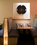The dining room at Maru restaurant in Aspen.