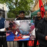 Tamils protestors on hunger strike of the Genocide in Sri Lanka, London, UK