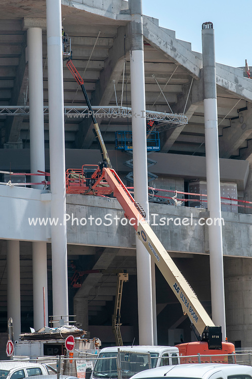 Re-construction of Bloomfield Stadium, Jaffa, Israel. This large construction project was undertaken in order to double the stadiums capacity to 29,522 seats planned to end by August 2019 (don't hold your breath) Photographed in April 2019