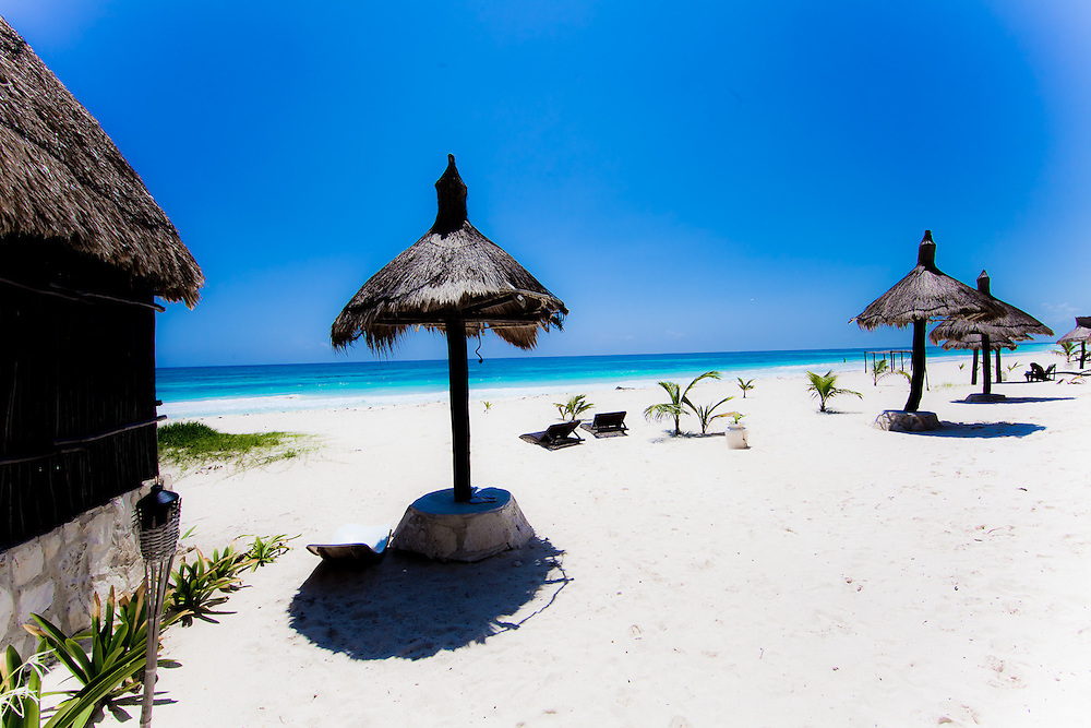 Photograph from ocean front resort in Tulum Mexico.  It is basically paradise on the beach.