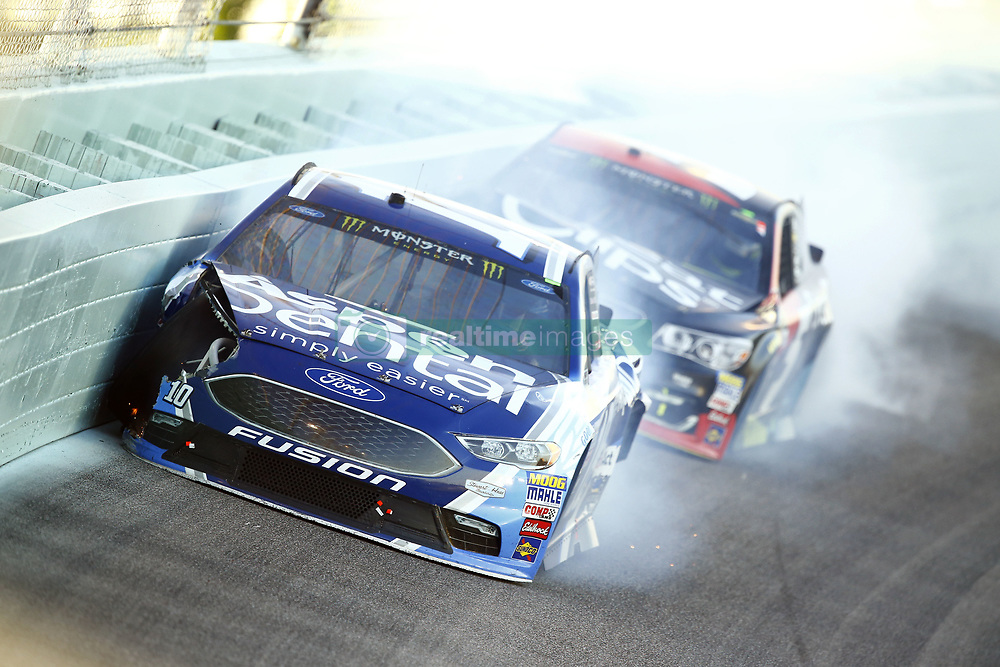 November 19, 2017 - Homestead, Florida, United States of America - November 19, 2017 - Homestead, Florida, USA: Danica Patrick (10) and Kasey Kahne (5) wreck to bring out a caution during the Ford EcoBoost 400 at Homestead-Miami Speedway in Homestead, Florida. (Credit Image: © Chris Owens Asp Inc/ASP via ZUMA Wire)
