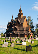 "Heddal stave church is Norway's largest stave church. This triple nave stave church, which some call ""a Gothic cathedral in wood,"" was built in the early 13th century and restored in 1849-1851 and the 1950s. Heddal stavkirke is in Notodden municipality, Telemark County, Norway."