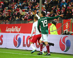 November 13, 2017 - Gdansk, Poland - Oribe Peralta during the international friendly soccer match between Poland and Mexico at the Energa Stadium in Gdansk, Poland on 13 November 2017  (Credit Image: © Mateusz Wlodarczyk/NurPhoto via ZUMA Press)