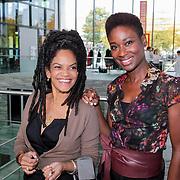 NLD/Hilversum/20121003- Boekpresentatie De Iconen van het NOS Achtuurjournaal, Aldith Hunkar en Milouska Meulens