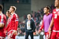 01.09.2017. Copenhagen, Denmark. <br /> Denmark coach Aage Hareide after the game against Poland during the FIFA 2018 World Cup Qualifier at Parken Stadion.<br /> Photo: © Ricardo Ramirez.