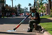 Didgeridoo Player, El Prado, Balboa Park, San Diego, California (SD)