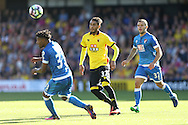 Roberto Pereyra of Watford (c)  in action. Premier league match, Watford v AFC Bournemouth at Vicarage Road in Watford, London on Saturday 1st October 2016.<br /> pic by John Patrick Fletcher, Andrew Orchard sports photography.