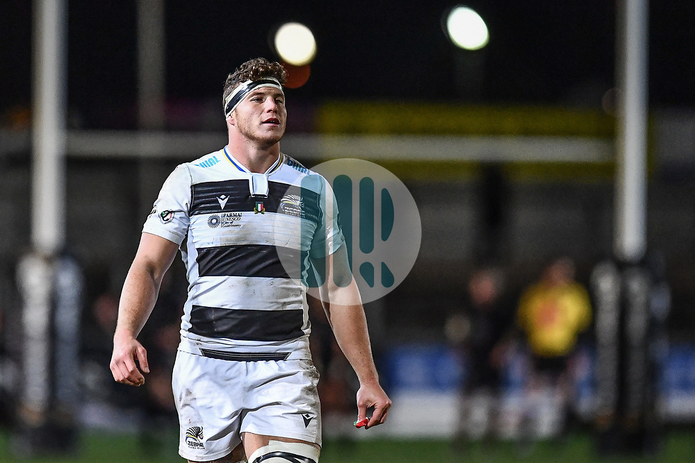 Giovanni Licata of Zebre<br /> <br /> Photographer Craig Thomas/Replay Images<br /> <br /> Guinness PRO14 Round 7 - Dragons v Zebre - Saturday 30th November 2019 - Rodney Parade - Newport<br /> <br /> World Copyright © Replay Images . All rights reserved. info@replayimages.co.uk - http://replayimages.co.uk