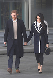 Prince Harry and Meghan Markle leave after a visit to Millennium Point in Birmingham, as part of the latest leg in the regional tours the couple are undertaking in the run-up to their May wedding.