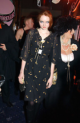 Model LILY COLE at a party and fashion show by Agent Provocateur at the Cafe de Paris, Coventry Street, London W1 on 14th February 2005.<br /><br />NON EXCLUSIVE - WORLD RIGHTS