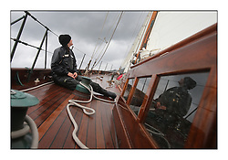 Day four of the Fife Regatta, race from Tighnabruaich to Portavadie<br /> <br /> Latifa, 8, Mario Pirri, ITA, Bermudan Yawl, Wm Fife 3rd, 1936<br /> <br /> * The William Fife designed Yachts return to the birthplace of these historic yachts, the Scotland's pre-eminent yacht designer and builder for the 4th Fife Regatta on the Clyde 28th June–5th July 2013<br /> <br /> More information is available on the website: www.fiferegatta.com