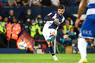 West Bromwich Albion midfielder Alex Mowatt (27) takes a shot at goal during the EFL Sky Bet Championship match between West Bromwich Albion and Queens Park Rangers at The Hawthorns, West Bromwich, England on 24 September 2021.