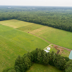 Fields and forests at Clarke Farm in Epping, New Hampshire.