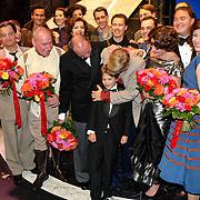NLD/Amsterdam/200801010 - Premiere Sunset Boulevard, Anthony Kamerling en zoon Merlijn
