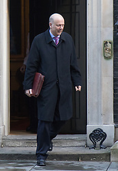 Downing Street, London, February 2nd 2016. Leader of the Commons Chris Grayling leaves No 10 after attending the weekly Cabinet meeting. ///FOR LICENCING CONTACT: paul@pauldaveycreative.co.uk TEL:+44 (0) 7966 016 296 or +44 (0) 20 8969 6875. ©2015 Paul R Davey. All rights reserved.