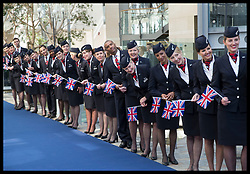 May 23, 2019 - London, London, United Kingdom - Image licensed to i-Images Picture Agency. 23/05/2019. London, United Kingdom. BA staff watch The Queen leaving  a visit to the headquarters of British Airways, Heathrow, United Kingdom, to mark their centenary year. (Credit Image: © Stephen Lock/i-Images via ZUMA Press)