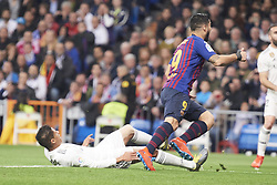 March 2, 2019 - Madrid, Madrid, Spain - Raphael Varane (defender; Real Madrid), Luis Suarez (forward; Barcelona) in action during La Liga match between Real Madrid and FC Barcelona at Santiago Bernabeu Stadium on March 3, 2019 in Madrid, Spain (Credit Image: © Jack Abuin/ZUMA Wire)