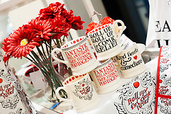 Emma Bridgewater's exclusive range for Red Nose Day 2013 is available from HomeSense  and TK Maxx stores...7 March  2013.Image © Paul David Drabble