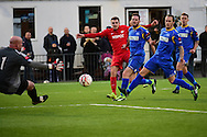 Carshalton Athletic Bobby Price (2) during the Ryman League - Div One South match between Carshalton Athletic and South Park FC at War Memorial Sports Ground, Carshalton, United Kingdom on 19 November 2016. Photo by Jon Bromley.