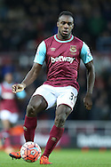 Michail Antonio of West Ham United in action. The Emirates FA cup, 3rd round match, West Ham Utd v Wolverhampton Wanderers at the Boleyn Ground, Upton Park  in London on Saturday 9th January 2016.<br /> pic by John Patrick Fletcher, Andrew Orchard sports photography.