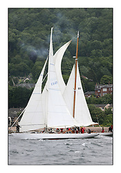 Day two of the Fife Regatta,Passage race to Rothesay.<br /> <br /> Sonata, Patrick  Caiger-Smith, GBR, Bermudan Sloop, Wm Fife 3rd, 1950<br /> * The William Fife designed Yachts return to the birthplace of these historic yachts, the Scotland's pre-eminent yacht designer and builder for the 4th Fife Regatta on the Clyde 28th June–5th July 2013<br /> <br /> More information is available on the website: www.fiferegatta.com