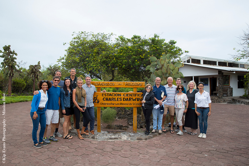 Expedition Party at the Charles Darwin Research Station
