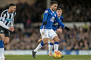 Aaron Lennon (Everton) during the Barclays Premier League match between Everton and Newcastle United at Goodison Park, Liverpool, England on 3 February 2016. Photo by Mark P Doherty.