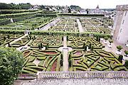France, Loir et Cher, The garden at Chateau de Villandry on the Loire river