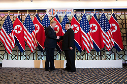 February 27, 2019 - Hanoi, Vietnam - U.S President DONALD TRUMP and North Korean leader and KIM JUNG-UN during a social dinner at the Sofitel Legend Metropole hotel in Hanoi, Vietnam (Credit Image: ? White House/ZUMA Wire/ZUMAPRESS.com)