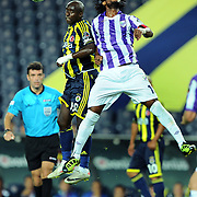 Fenerbahce's Issiar DIA (L) and Orduspor's Gosso Jean Jacques GOSSO (R) during their Turkish superleague soccer match Fenerbahce between Orduspor at the Sukru Saracaoglu stadium in Istanbul Turkey on Monday 12 September 2011. Fenerbahce played spectators match through suspension. Photo by TURKPIX