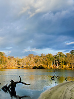 Images of the Altamaha River in Southeast Georgia in Fall .