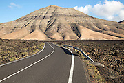 Road to Montana de Medio, mountain, Los Ajaches mountain range, Lanzarote, Canary Islands, Spain