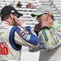16-18 March, 2012, Bristol, Tennessee, USA<br /> Dale Earnhardt, Jr. and Kyle Busch <br /> (c)2012, Phillip Abbott<br /> LAT Photo USA