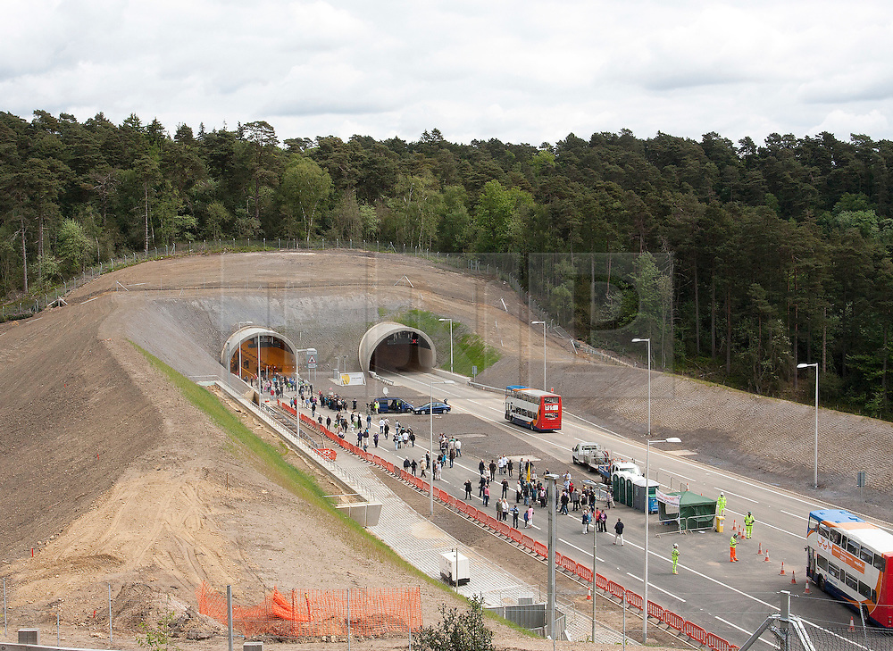 © licensed to London News Pictures. Hindhead, Surrey UK  14/05/11. After nearly 30 years of planning and 4 years of construction the £371 Million project nears completion. Today (Sat) the public were offered the chance to walk the 1.25mile stretch of tunnel before it officially opens in July. Please see special instructions for usage rates. Photo credit should read: Sam Spickett/LNP