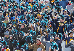 Nov 10, 2018; Morgantown, WV, USA; West Virginia Mountaineers fans cheer during the first quarter against the TCU Horned Frogs at Mountaineer Field at Milan Puskar Stadium. Mandatory Credit: Ben Queen-USA TODAY Sports