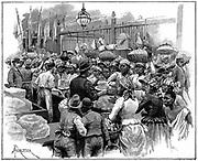 Ice stall in the market, Georgetown, Demerara, Guyana (British Guyana) Wood engraving 1888