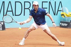 May 8, 2018 - Madrid, Spain - Uruguayan Pablo Cuevas during Mutua Madrid Open 2018 at Caja Magica in Madrid, Spain. May 08, 2018. (Credit Image: © Coolmedia/NurPhoto via ZUMA Press)
