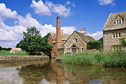 July 21, 2019 - Stone Mill And Houses, Lower Slaughter, Cotswolds, England (Credit Image: © Bilderbuch/Design Pics via ZUMA Wire)