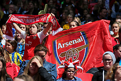 Arsenal Ladies FC fans - Mandatory byline: Jason Brown/JMP - 14/05/2016 - FOOTBALL - Wembley Stadium - London, England - Arsenal Ladies v Chelsea Ladies - SSE Women's FA Cup