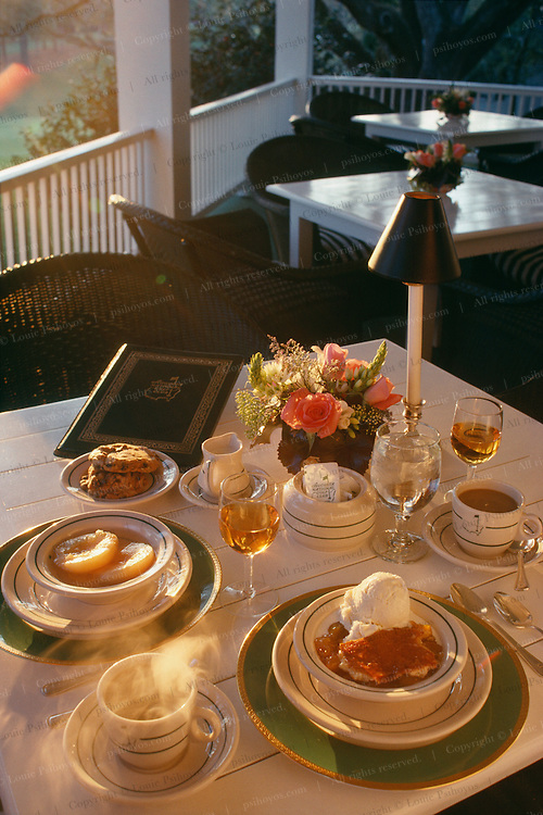 A dining table at Augusta National Golf Club, home of the PGA Masters Tournament.
