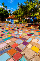 Spanish Village Art Center, Balboa Park, San Diego, California USA.